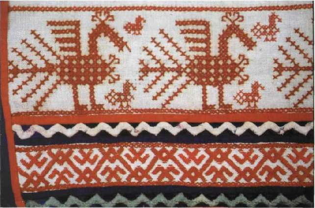 Орел в русской вышивке